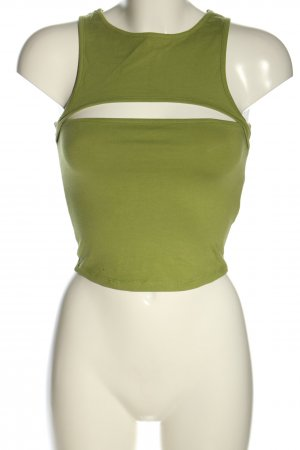 NA-KD Cropped Top grün Casual-Look