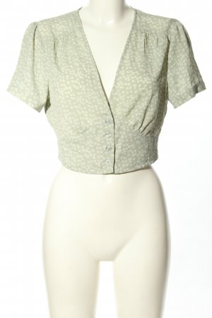 NA-KD Cropped top khaki-wit volledige print casual uitstraling