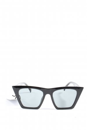 NA-KD Lunettes de soleil angulaires noir style décontracté