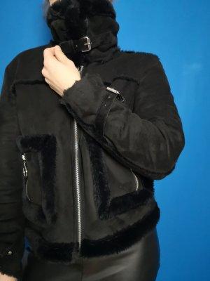 NA-KD Vliegeniersjack zwart Polyester
