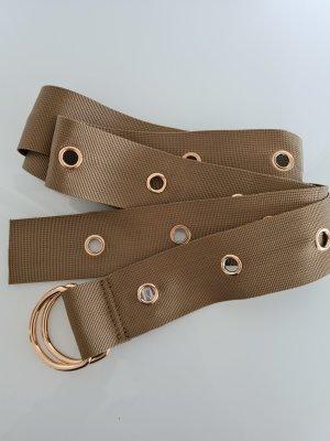 NA-KD Fabric Belt gold-colored-green grey