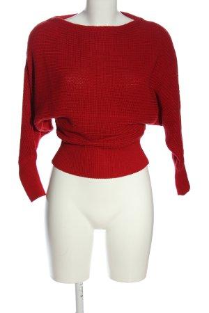 NA-KD Gehaakte trui rood gestreept patroon casual uitstraling