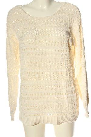 NA-KD Szydełkowany sweter kremowy W stylu casual