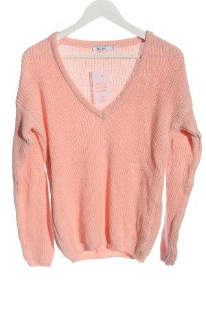NA-KD Pull en crochet rose torsades style décontracté