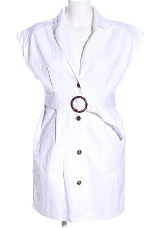 NA-KD Shirtwaist dress white casual look