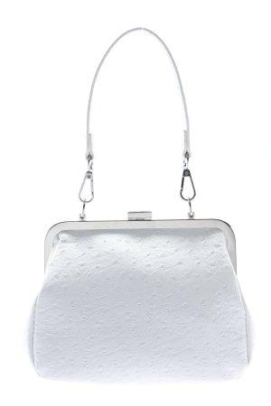 NA-KD Henkeltasche weiß-silberfarben Elegant