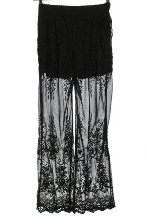 NA-KD High-Waist Hose schwarz Elegant