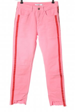 NA-KD High-Waist Hose pink Streifenmuster Casual-Look
