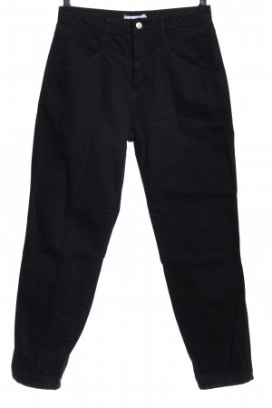 NA-KD Hoge taille jeans zwart zakelijke stijl