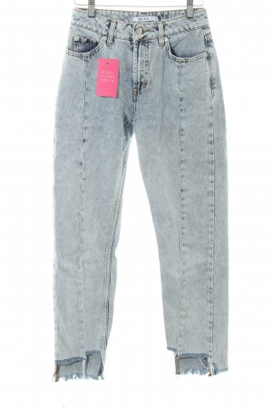 NA-KD Hoge taille jeans donkerblauw-azuur casual uitstraling