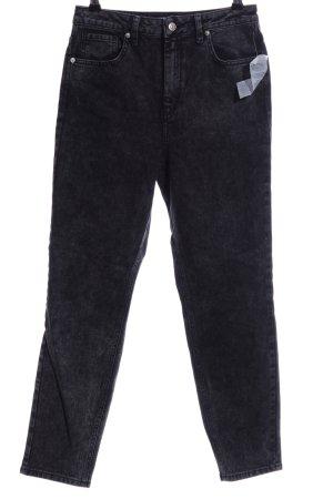 NA-KD Hoge taille jeans zwart Gemengd weefsel