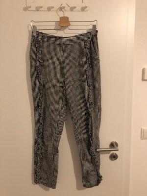 NA-KD Pantalón de tubo negro-blanco