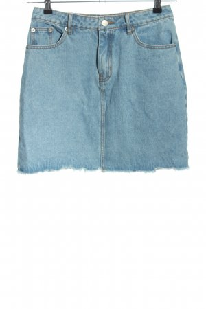NA-KD Jeansrock blau Casual-Look