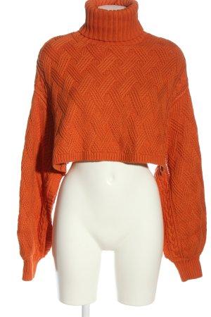 NA-KD Pull kimono orange clair torsades style décontracté