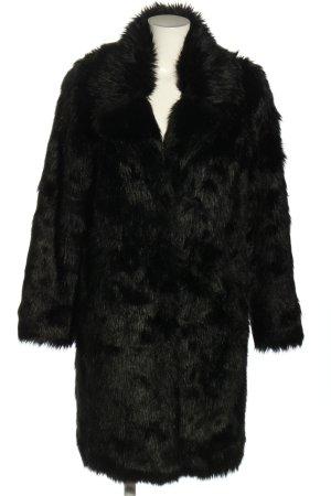 NA-KD Płaszcz ze sztucznym futrem czarny W stylu casual