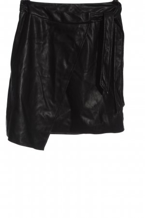 NA-KD Spódnica z imitacji skóry czarny W stylu casual
