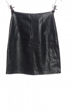 NA-KD Rok van imitatieleder zwart elegant