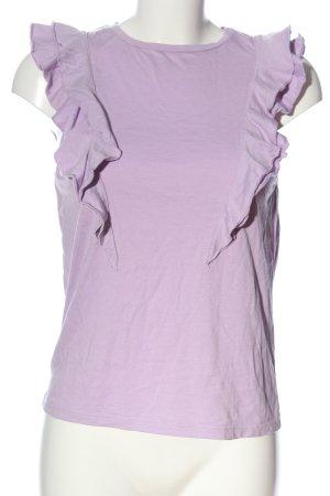 NA-KD Kurzarm-Bluse lila Casual-Look