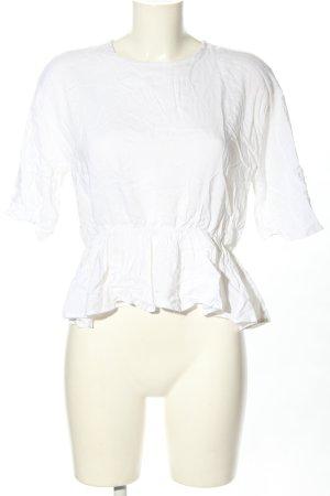 NA-KD Kurzarm-Bluse weiß Casual-Look