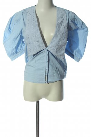 NA-KD Camicia a maniche corte blu elegante