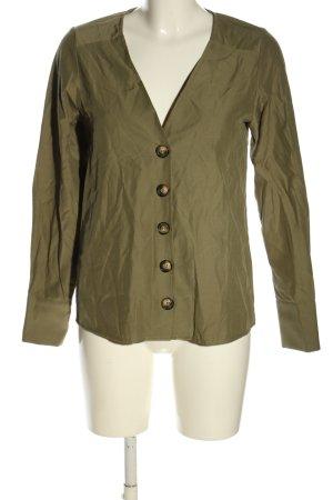 NA-KD Langarm-Bluse bronzefarben meliert Casual-Look