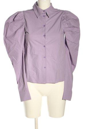 NA-KD Langarm-Bluse lila Business-Look