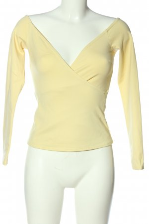 NA-KD Langarm-Bluse blassgelb Casual-Look