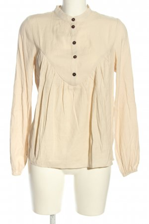 NA-KD Langarm-Bluse creme Business-Look