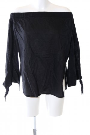 NA-KD Langarm-Bluse schwarz Casual-Look