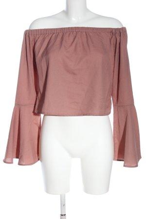 NA-KD Langarm-Bluse pink Casual-Look