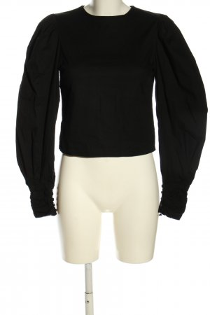 NA-KD Langarm-Bluse schwarz Casual-Look