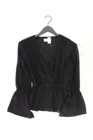 NA-KD Langarmbluse Größe 34 schwarz aus Polyester