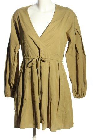 NA-KD Langarmkleid goldfarben Casual-Look