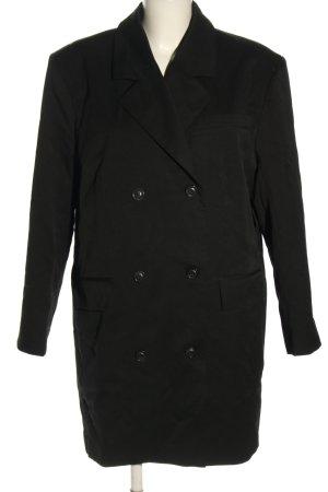 NA-KD Blazer long noir motif rayé style décontracté