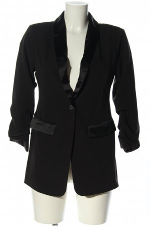 NA-KD Long-Blazer schwarz Casual-Look