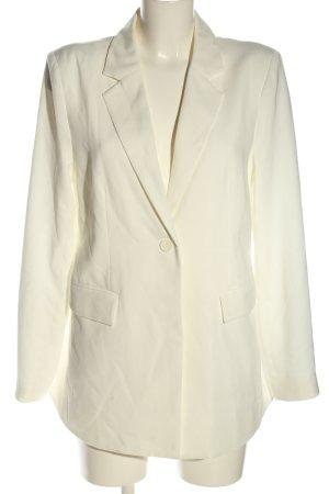 NA-KD Blazer long blanc cassé style d'affaires