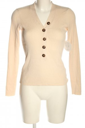 NA-KD Longsleeve creme Zopfmuster Casual-Look