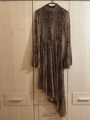 Na-kd Midi Kleid Leopard Muster