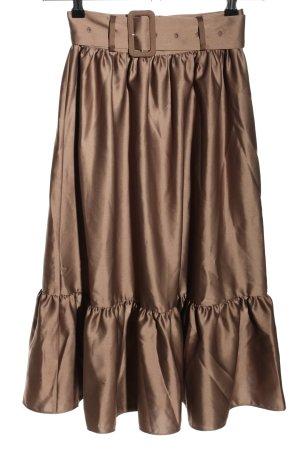 NA-KD Spódnica midi brązowy W stylu casual