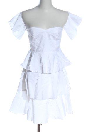 NA-KD Minikleid weiß Elegant