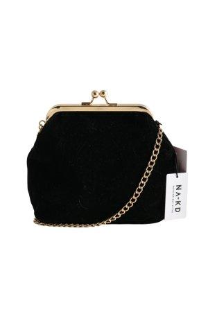 NA-KD Minibolso negro-color oro elegante