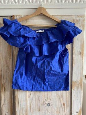 NA-KD off-shoulder Bluse in schönem königsblau