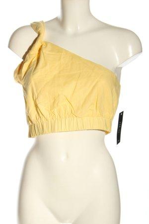NA-KD Haut avec une épaule dénudée jaune primevère imprimé allover