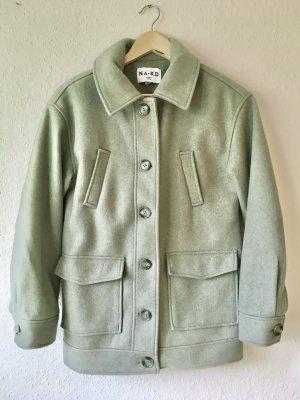 Na-kd Oversize Mantel Jacke grün Gr. 32