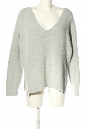 NA-KD Oversized Pullover hellgrau Casual-Look