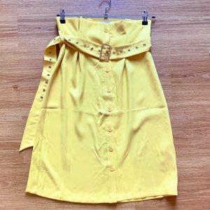 Nakd Plaid Skirt yellow-dark yellow polyester