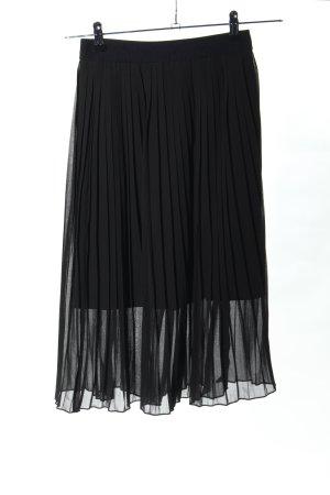 NA-KD Falda plisada negro elegante