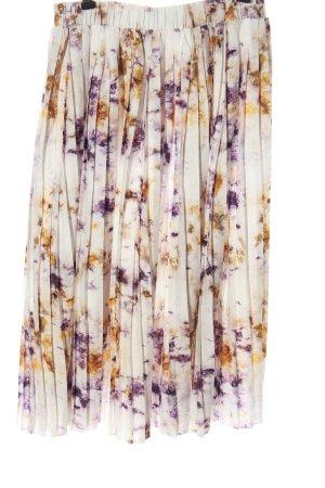 NA-KD Plisowana spódnica Abstrakcyjny wzór W stylu casual