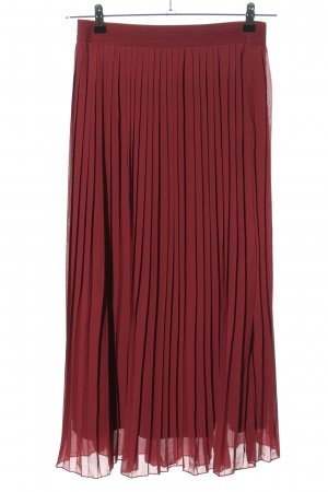 NA-KD Pleated Skirt red casual look