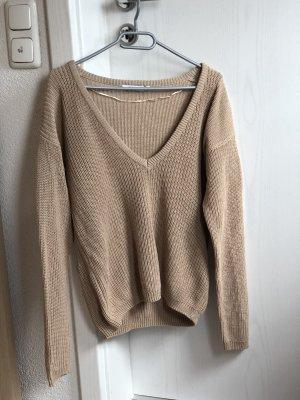 NA-KD Pullover mit V-Ausschnitt